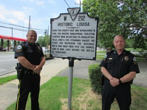 Chief Ronnie Roberts and Officer Danny Shiflett